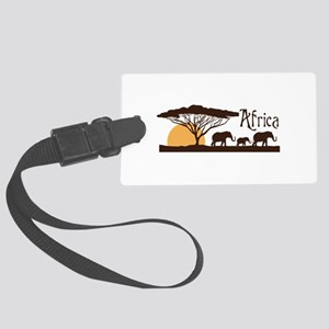 African Sunset Luggage Tag